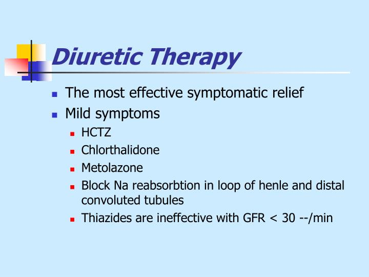 Diuretic Therapy