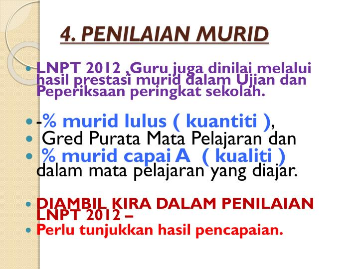 4. PENILAIAN MURID