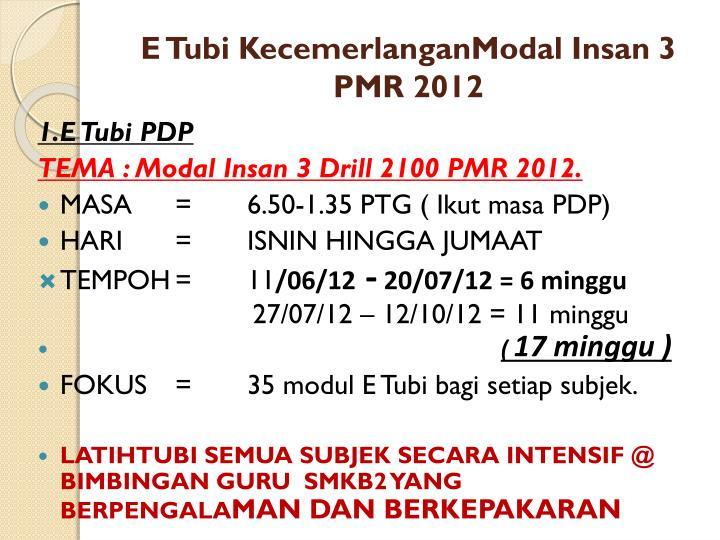 E Tubi KecemerlanganModal Insan 3 PMR 2012