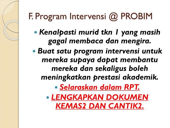 F. Program