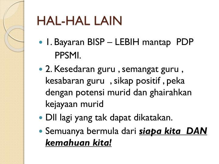 HAL-HAL LAIN