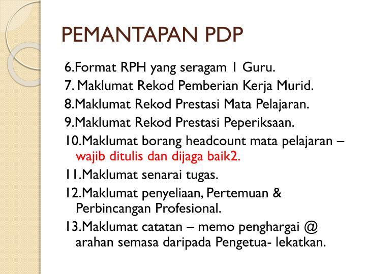 PEMANTAPAN PDP