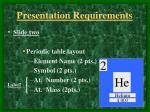 presentation requirements1