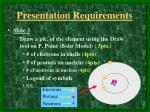 presentation requirements2