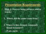 presentation requirements3