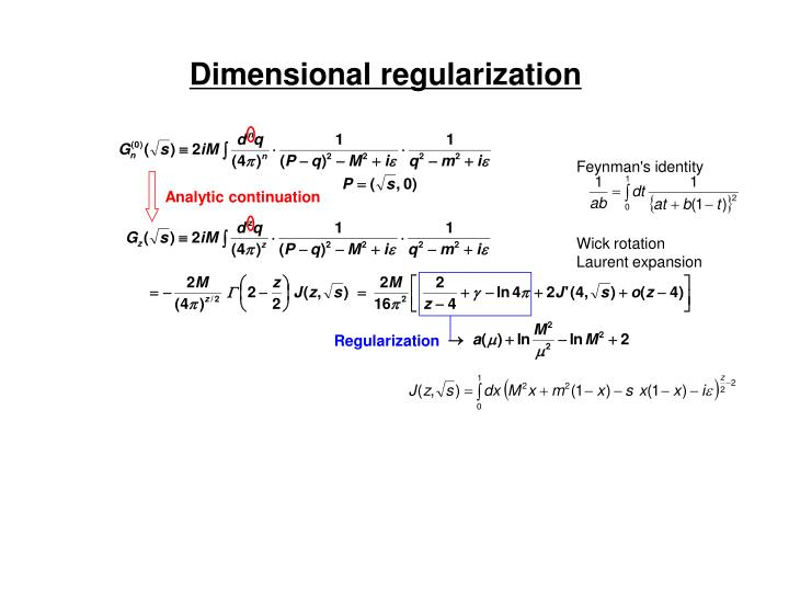 Dimensional regularization