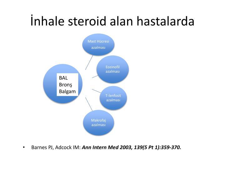 İnhale steroid alan hastalarda