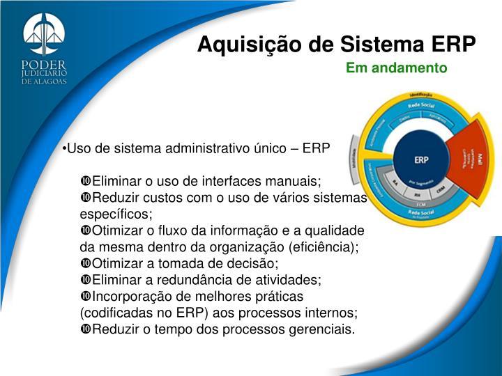 Aquisição de Sistema ERP