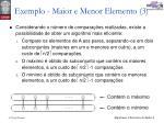 exemplo maior e menor elemento 31