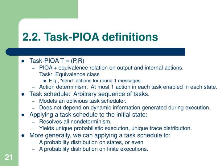 2.2. Task-PIOA definitions