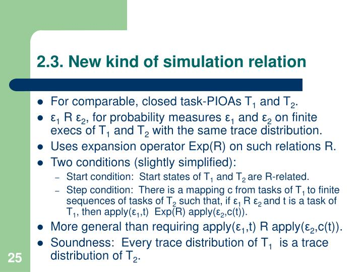 2.3. New kind of simulation relation