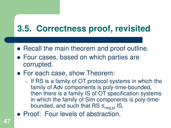 3.5.  Correctness proof, revisited