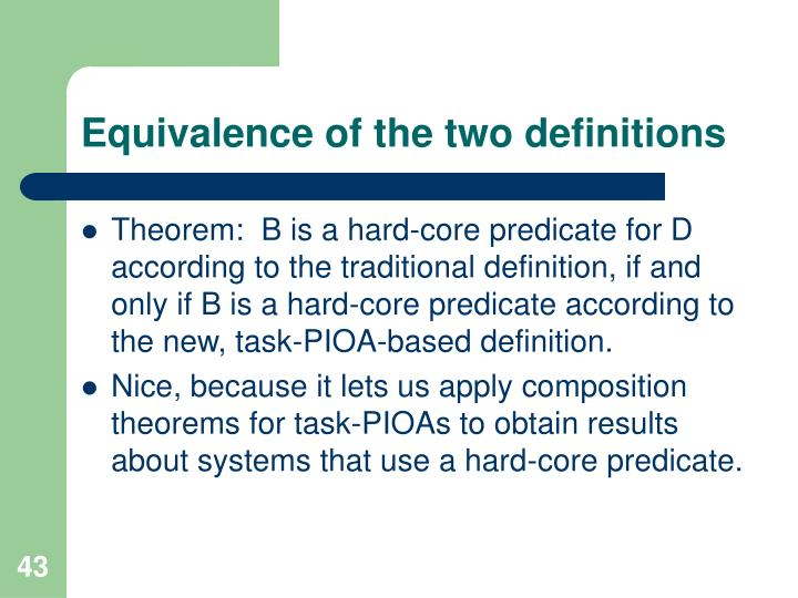 Equivalence of the two definitions
