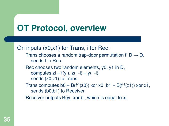 OT Protocol, overview