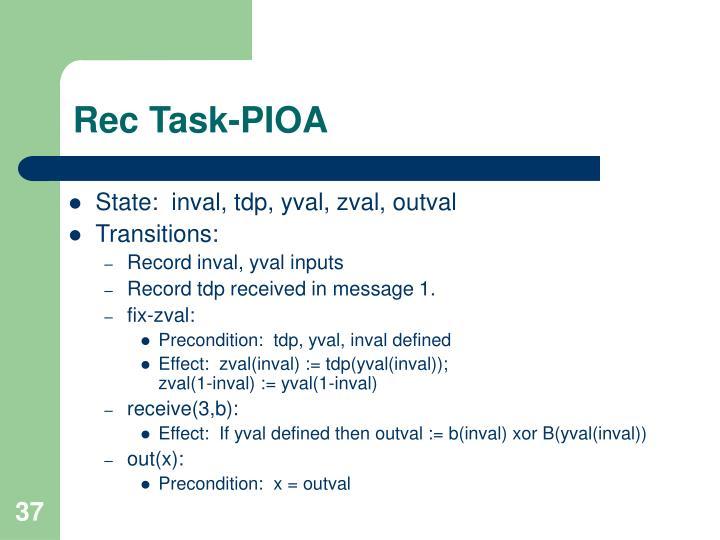 Rec Task-PIOA