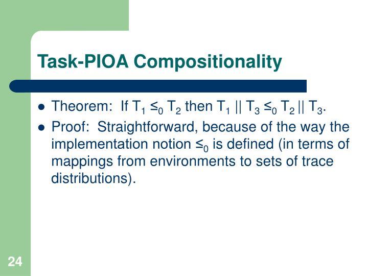 Task-PIOA Compositionality