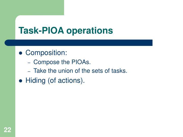 Task-PIOA operations