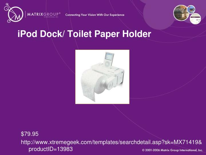 iPod Dock/ Toilet Paper Holder