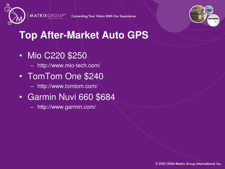 Top After-Market Auto GPS