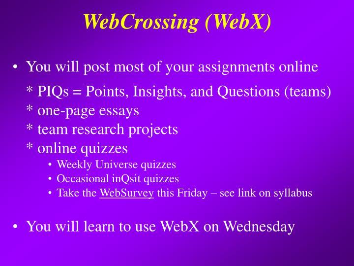 WebCrossing (WebX)