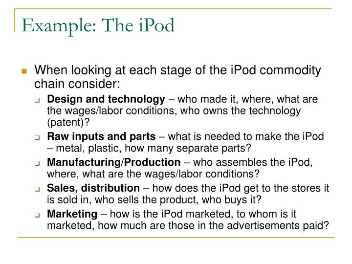 Example: The iPod