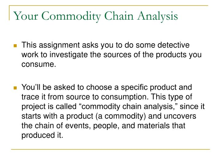 Your Commodity Chain Analysis