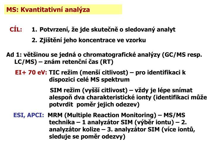 MS: Kvantitativní analýza