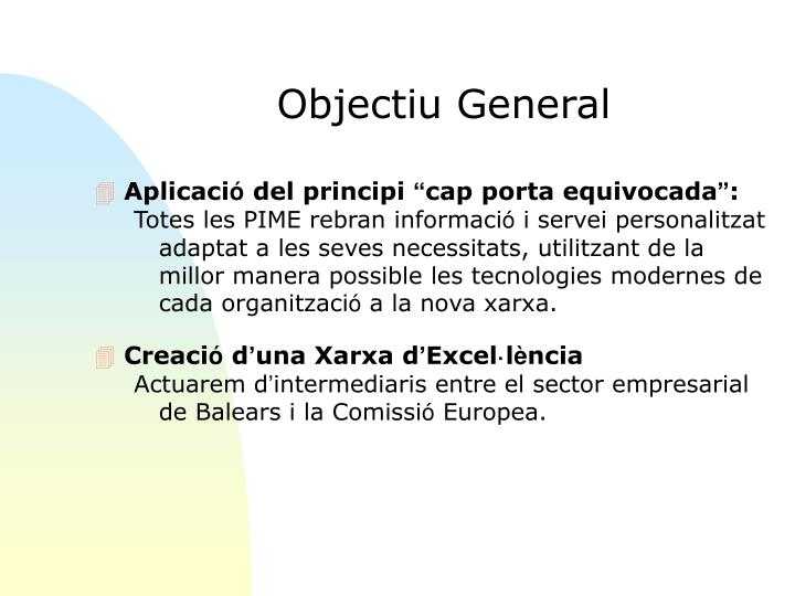 Objectiu General