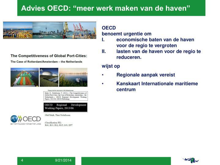 """Advies OECD: """"meer werk maken van de haven"""""""