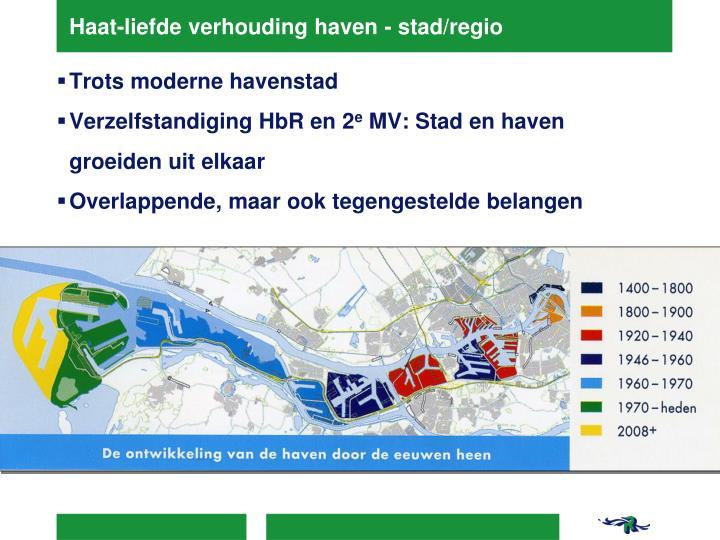 Haat-liefde verhouding haven - stad/regio