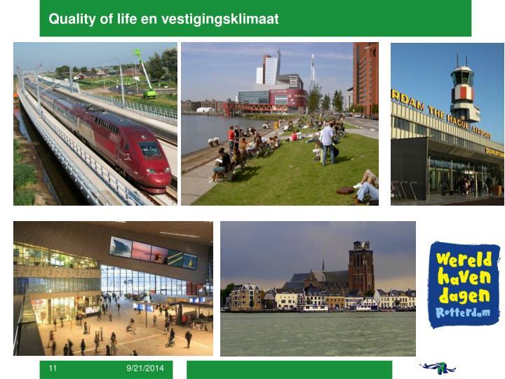 Quality of life en vestigingsklimaat