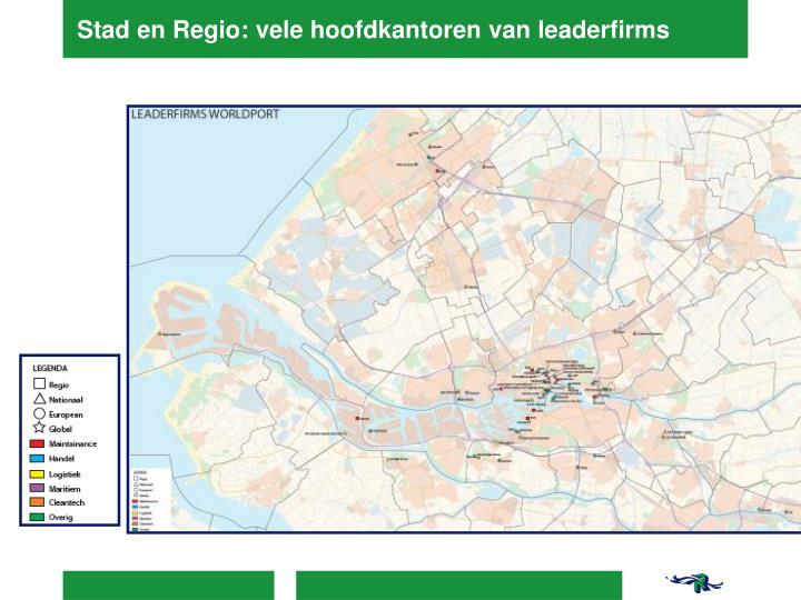 Stad en Regio: vele hoofdkantoren van leaderfirms