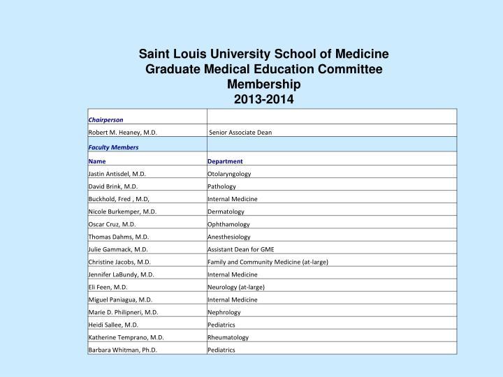 Saint Louis University School of Medicine