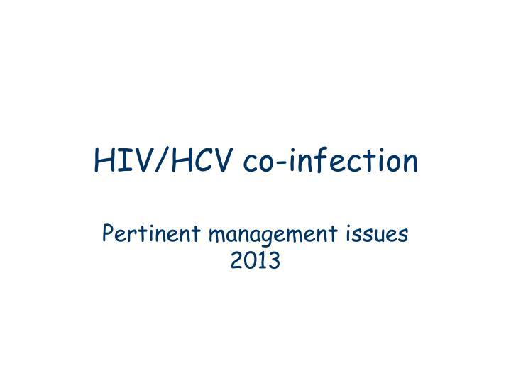 HIV/HCV co-infection