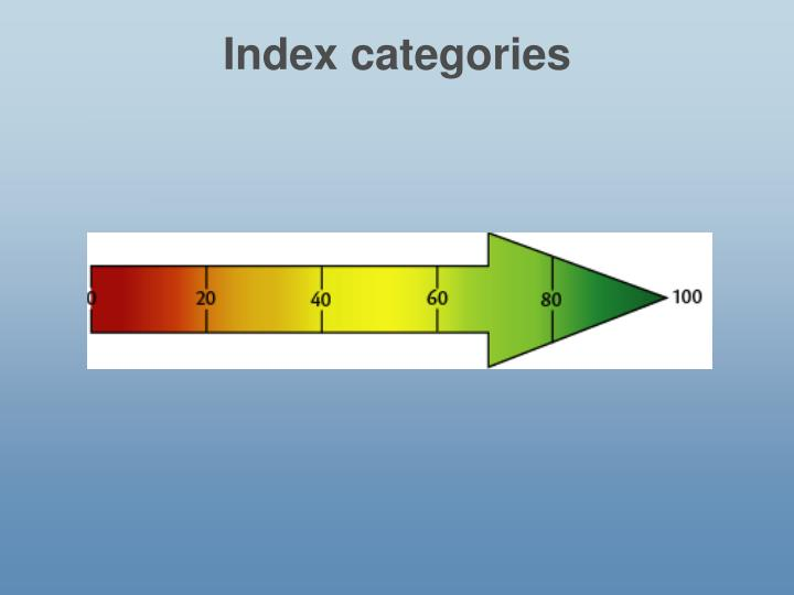 Index categories