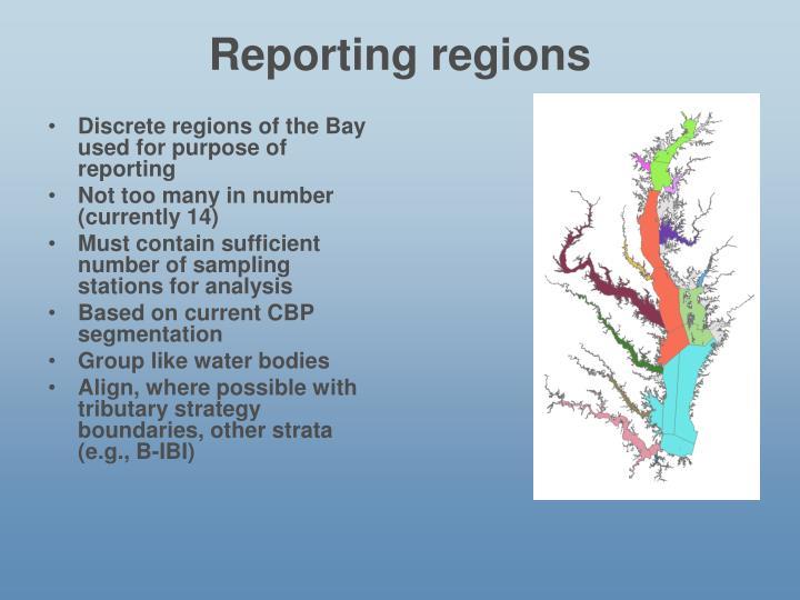 Reporting regions