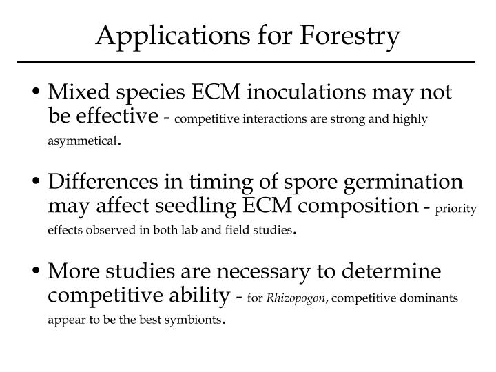 Applications for Forestry