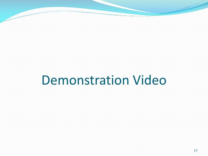 Demonstration Video