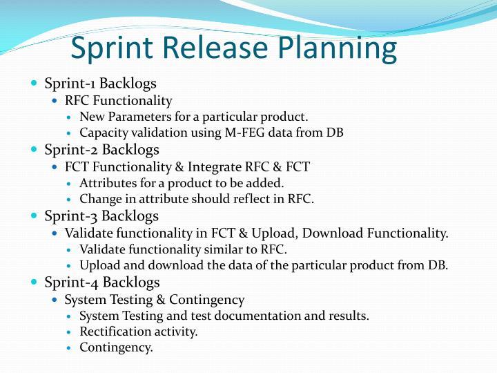 Sprint Release Planning