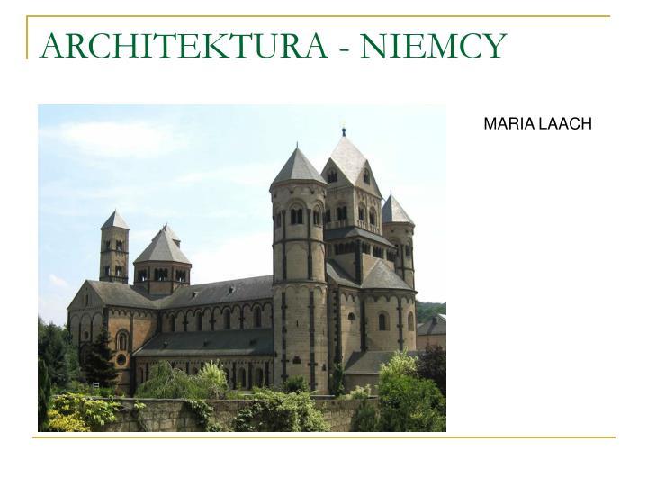 ARCHITEKTURA - NIEMCY