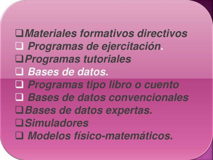 Materiales formativos directivos