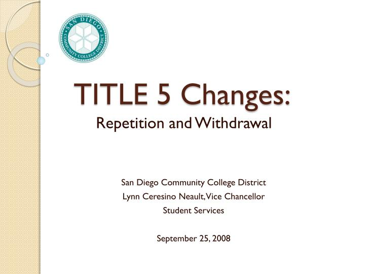 Title 5 changes