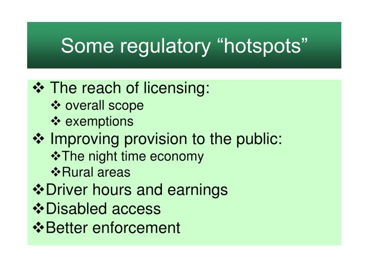 "Some regulatory ""hotspots"""