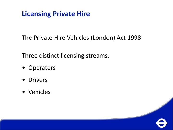 Licensing Private Hire