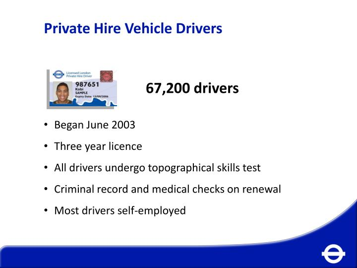 Private Hire Vehicle Drivers
