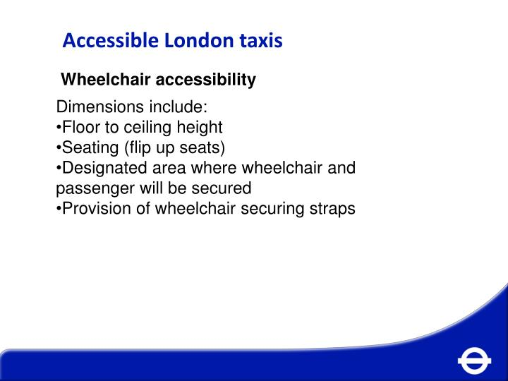 Accessible London taxis