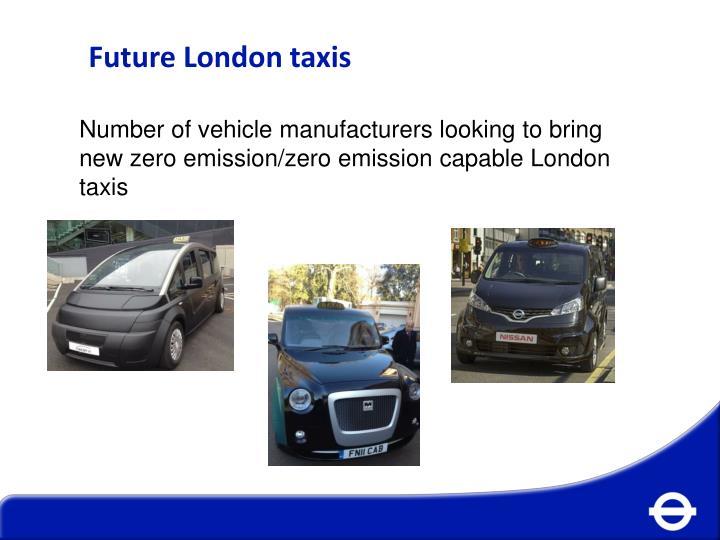 Future London taxis
