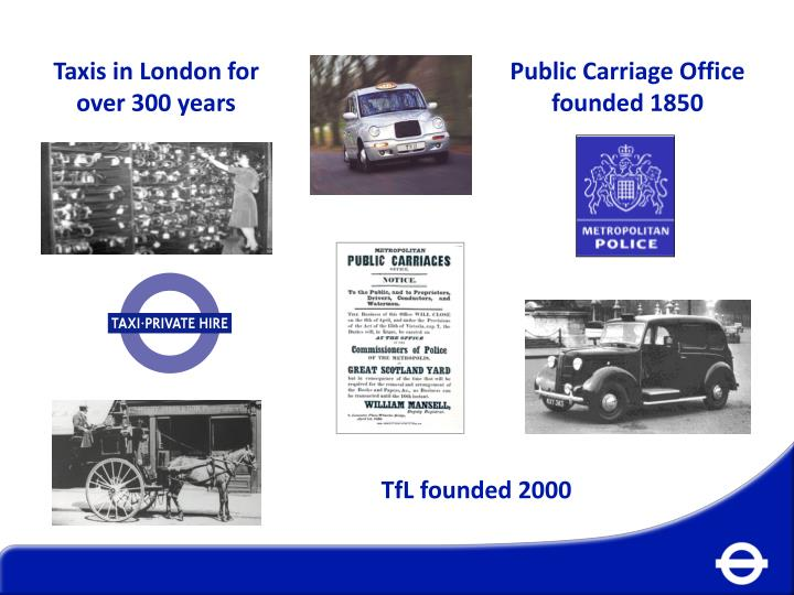 Taxis in London for over 300 years
