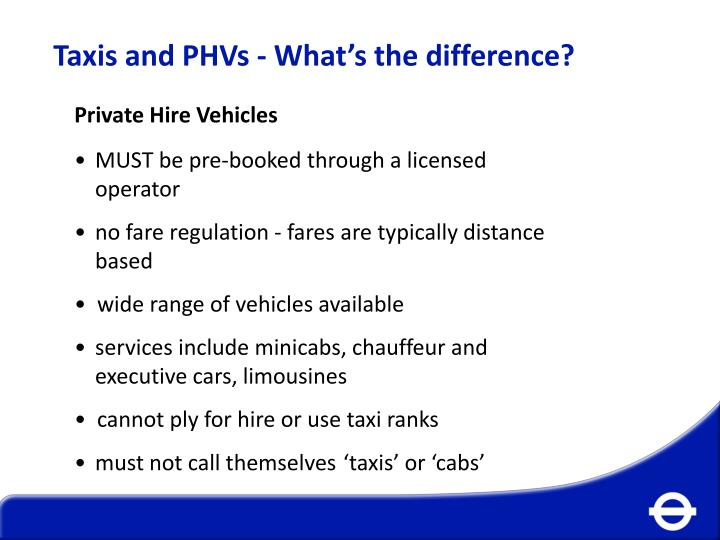 Taxis and PHVs - What's the difference?