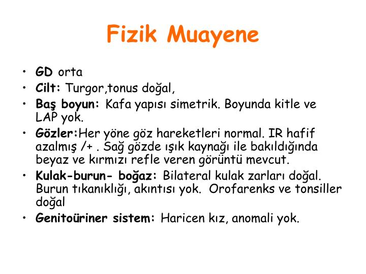 Fizik Muayene